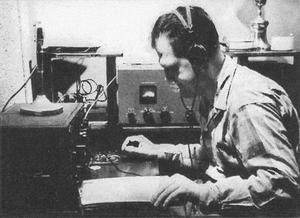 Gunderson on his radio