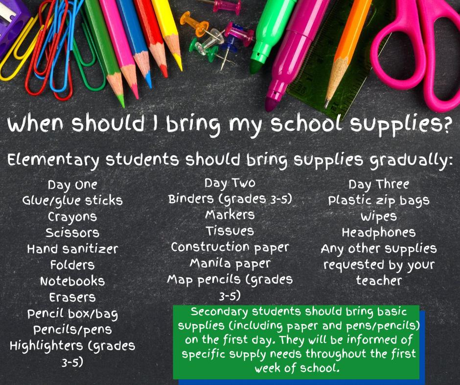 school supply details