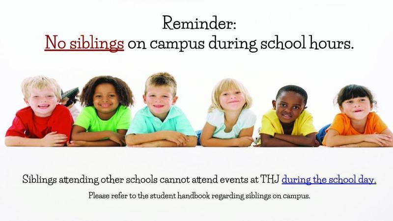 no siblings on campus during school hours