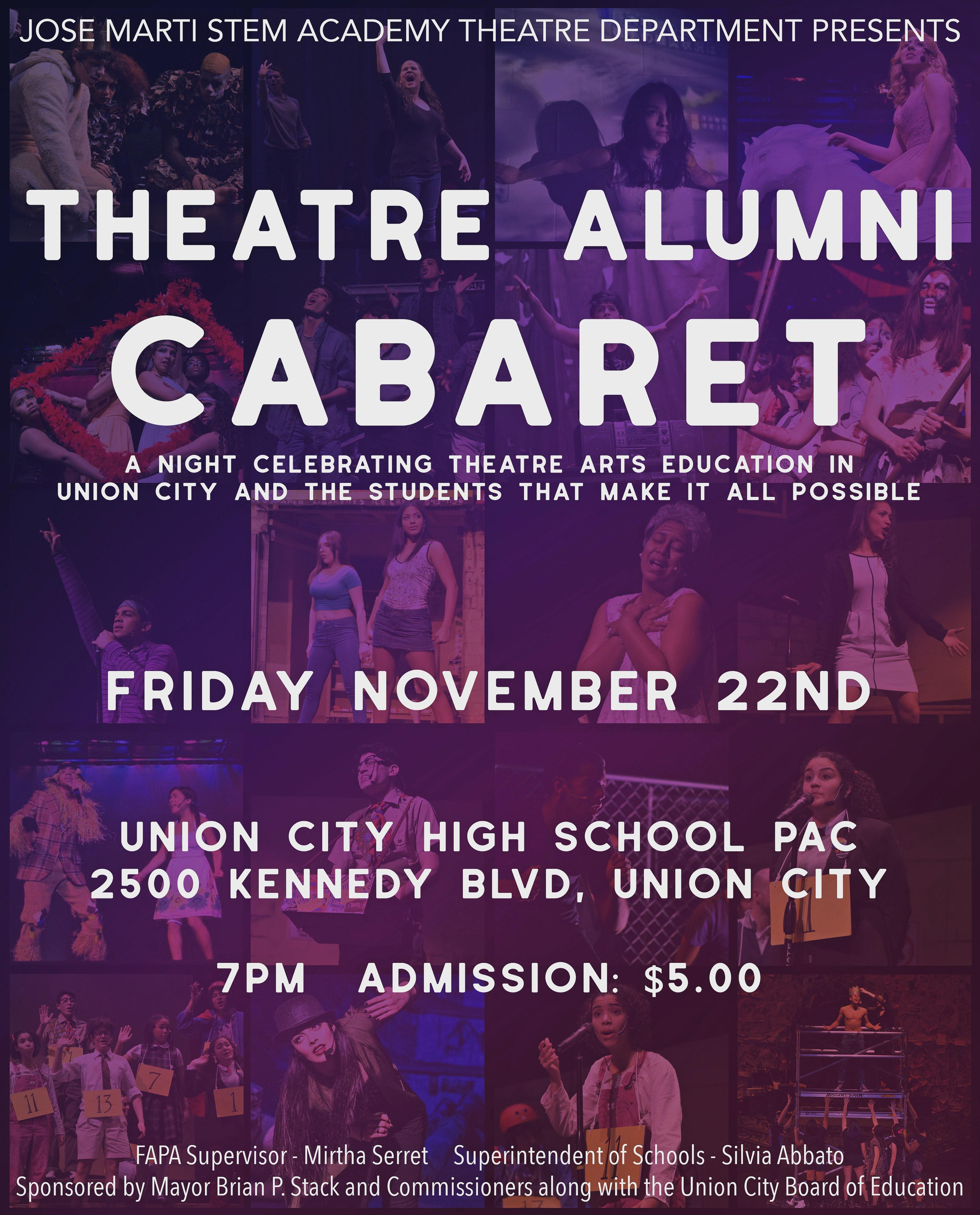 allumni cabaret flyer