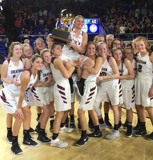 The CCCHS Lady Cubs won the Class AA state basketball championship.