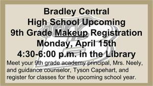 BCHS Makeup Registration
