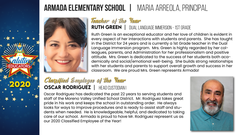 Armada Elementary Employees of the Year
