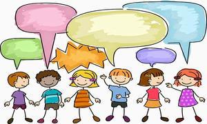 kids talking