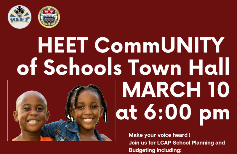 HEET Community Town Hall Meeting - Wednesday, March 10 @ 6:00pm Featured Photo