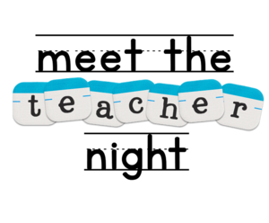 meet the teacher night graphic