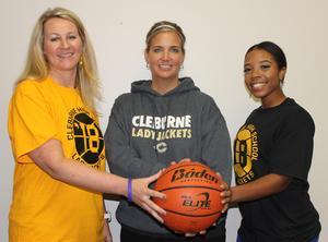 Alumni Team Captains with Basketball Coach