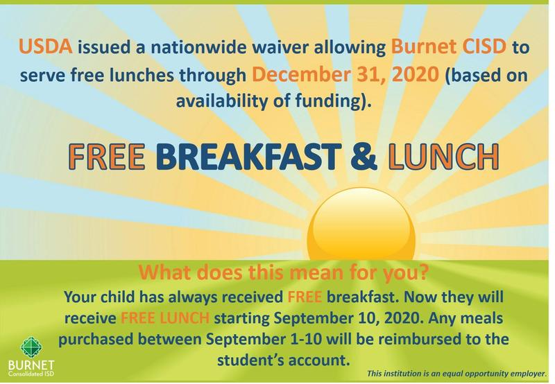 Burnet CISD Offers Free Lunch to All Students Thumbnail Image