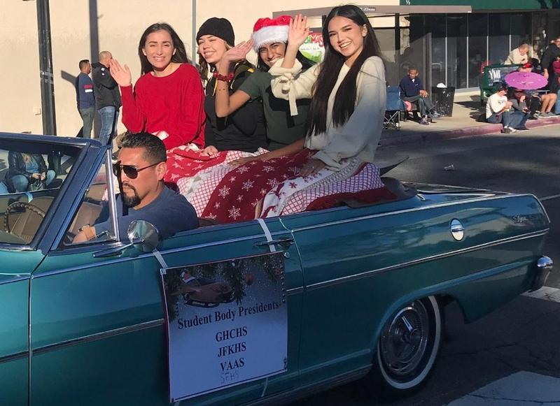 Kennedy Represents at the Granada Hills Holiday Parade Featured Photo