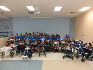 CGW Choir with Children's Hospital patients.