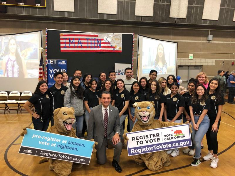 Secretary of State Alex Padilla Visits Kennedy to Preregister Juniors and Seniors to Vote Featured Photo