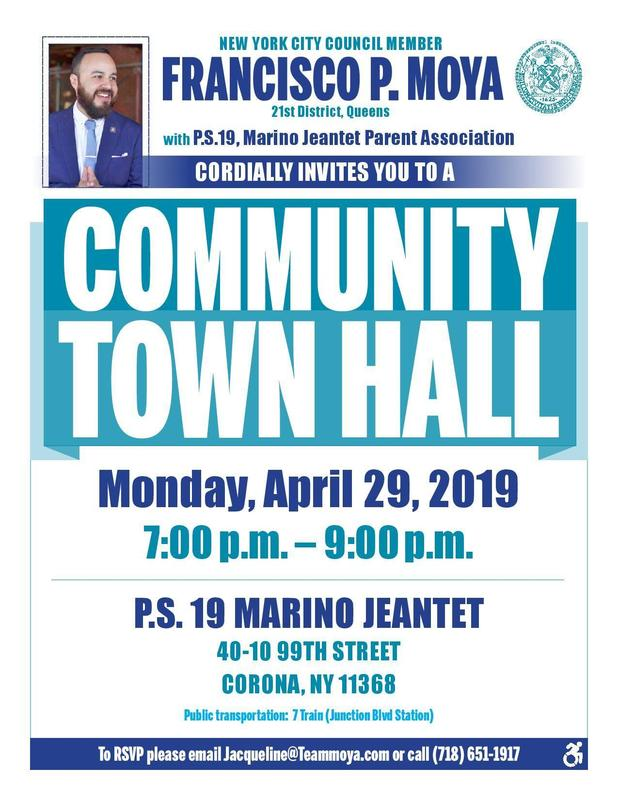 Maspeth High School Encourages Civic Participation . . . Councilmember Francisco P.  Moya Community Town Hall Featured Photo