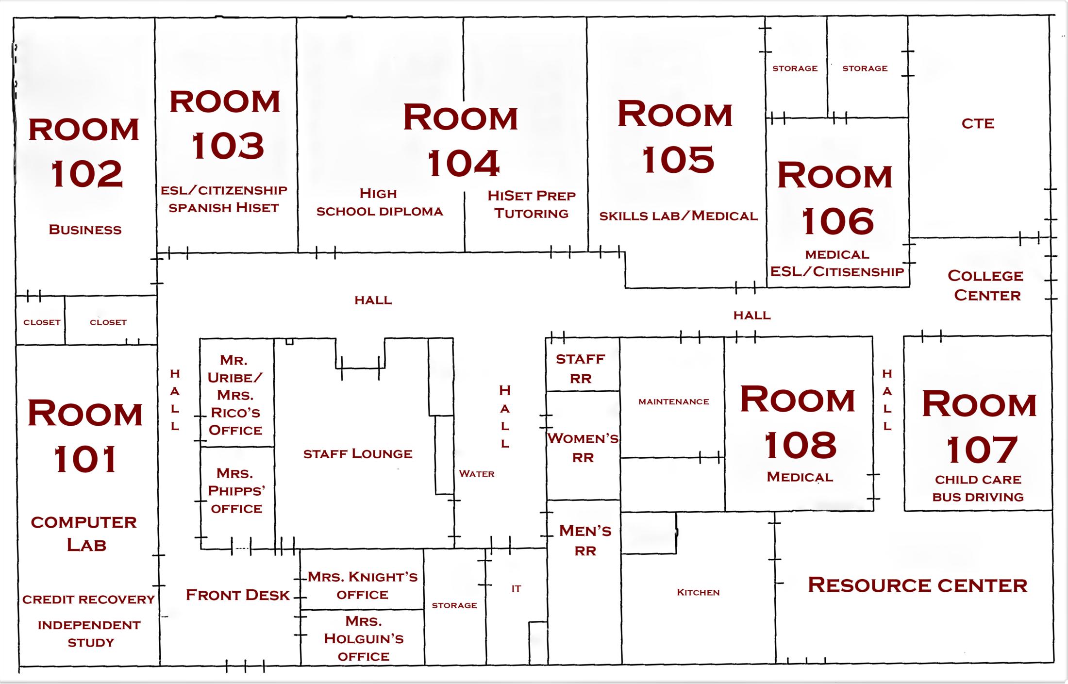PAS Campus Map – Contact – Porterville Adult School