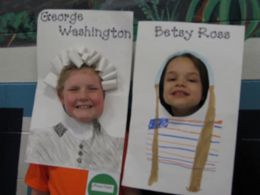 Wax Museum-Thomas Jefferson and Betsy Ross