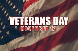 Veterans Day - November 12, 2018