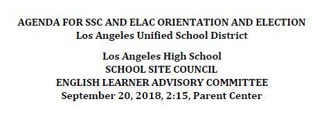 Coffee with the Principal and ELAC/SSC Orientation and Election of parent representatives Featured Photo