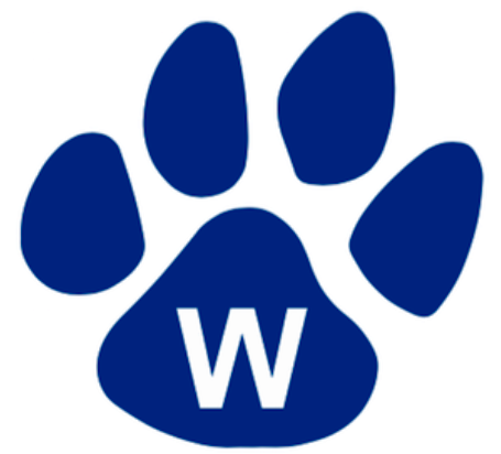 Outline of a tiger paw, with a W