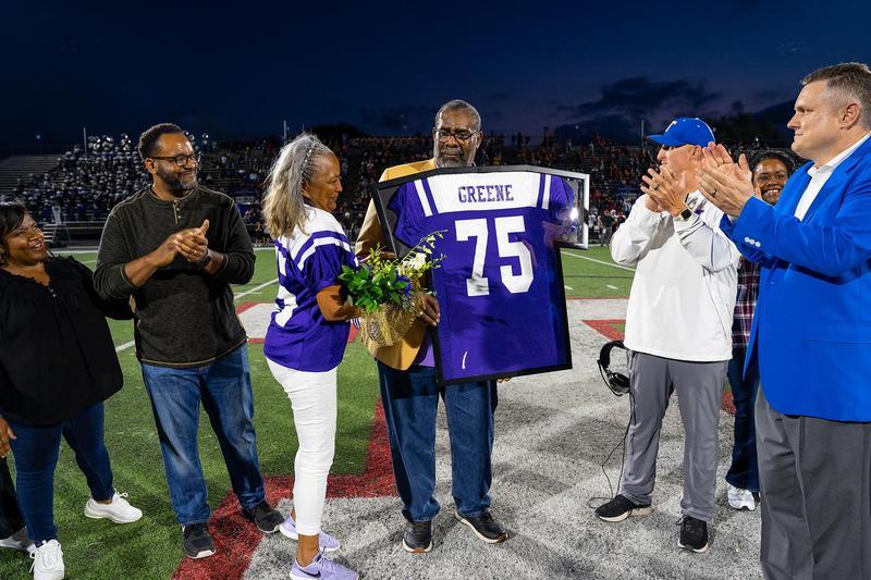 Joe Greene's Dunbar Jr./Sr. High School football jersey becomes first retired jersey in TISD history Featured Photo