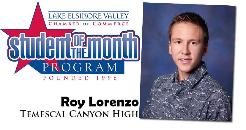 Roy Lorenzo, TCH Student of the Month, November 10, 2020.