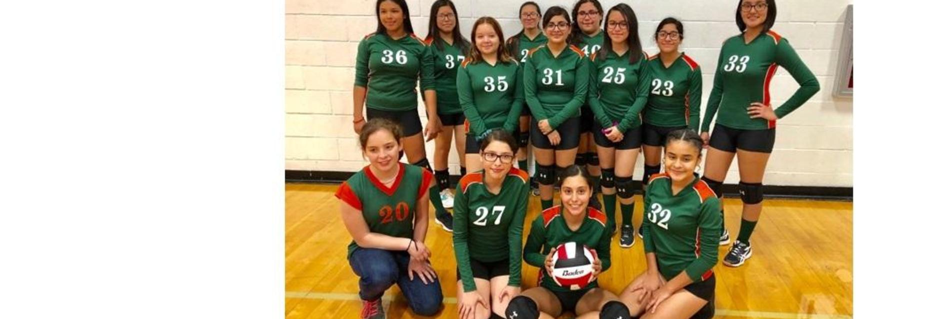 8th Grade volleyball beat Shary North in 3 sets!