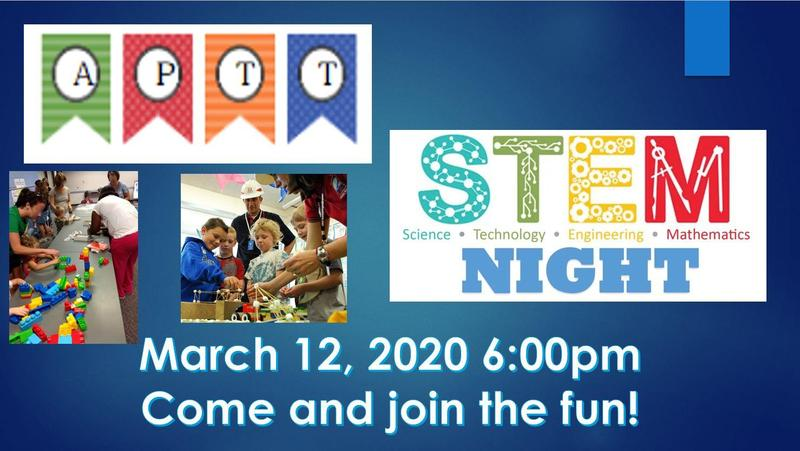 Join us March 12 for a fun STEM Night and APTT! Featured Photo