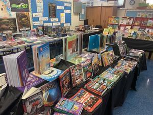 Book display at book fair