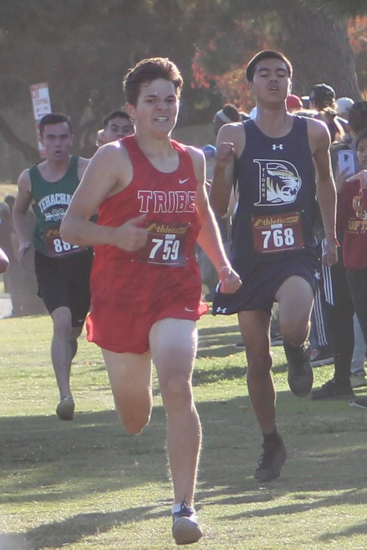 Boys cross country running