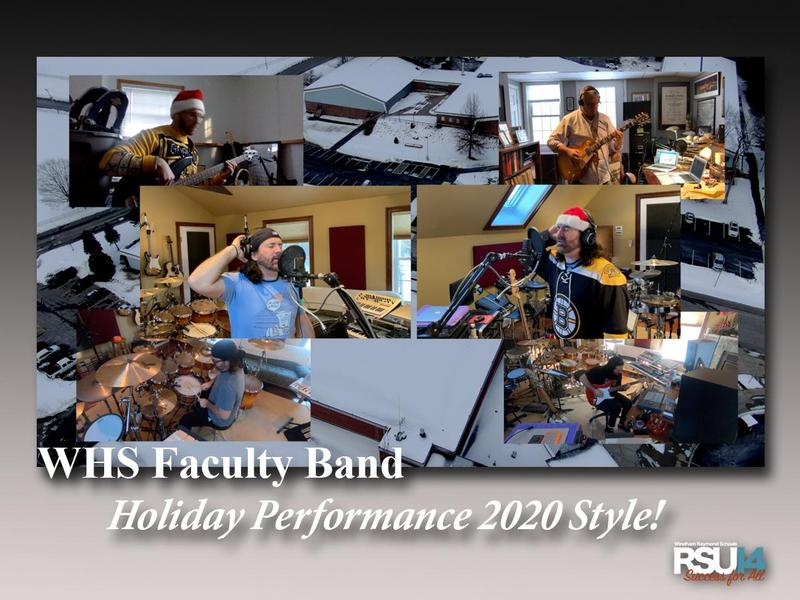 WHS Faculty Band performance - 2020 style!