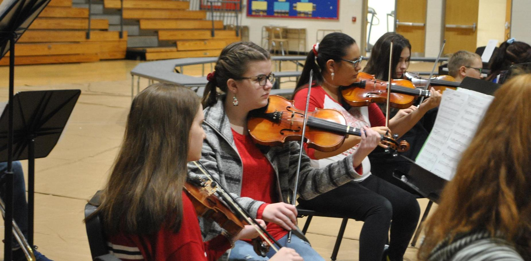 orchestra in holiday performance