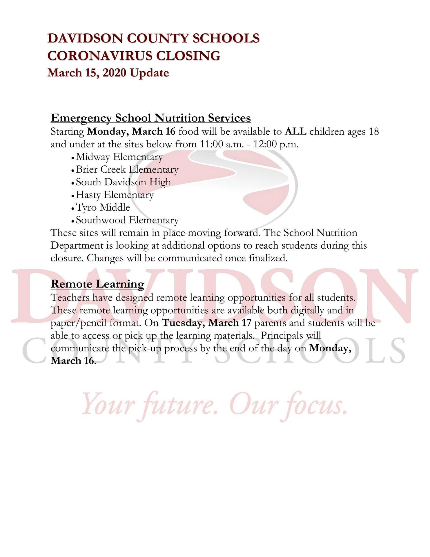 DCS 3/15/2020 Update