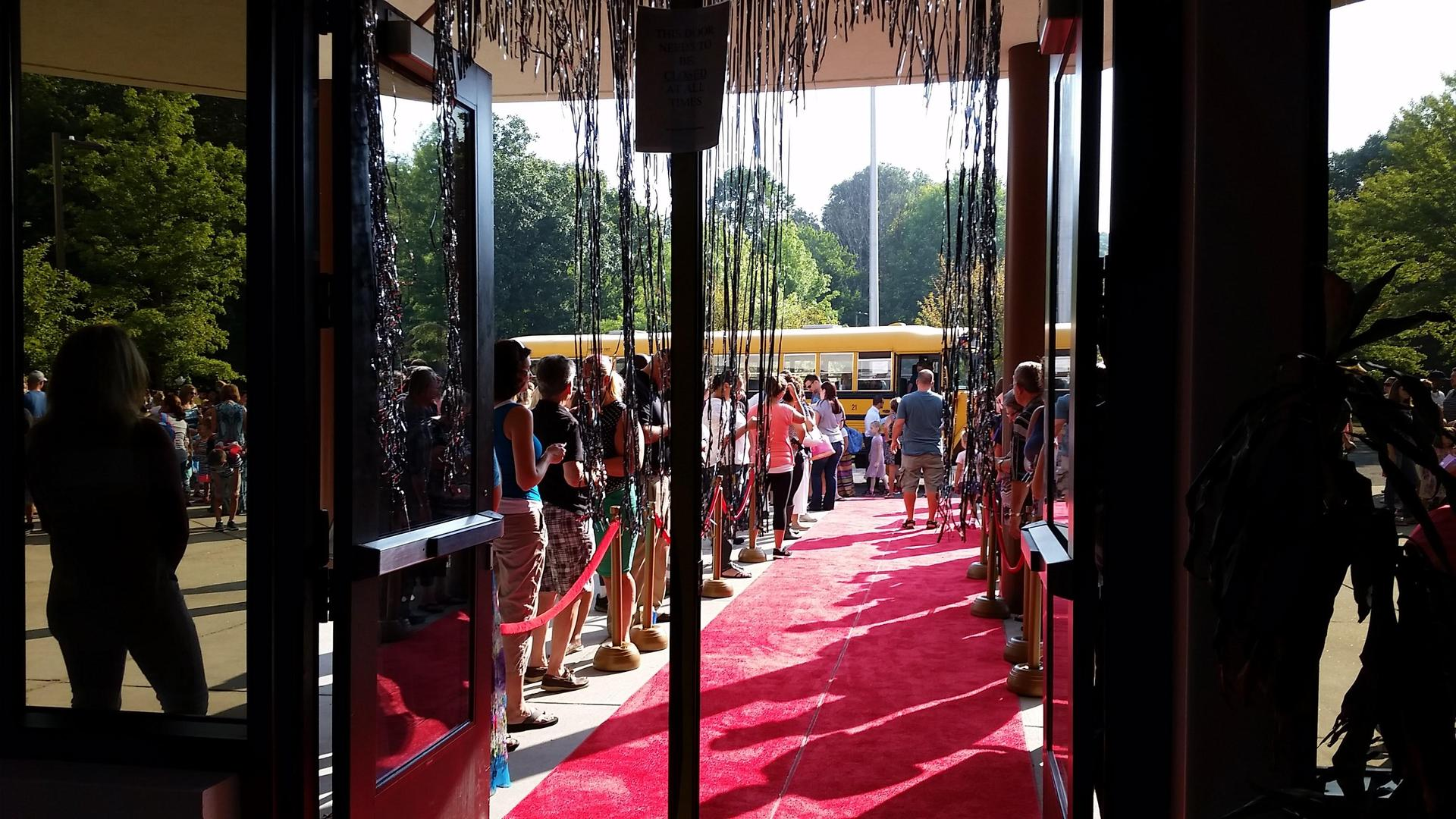 Red Carpet on the first day of school