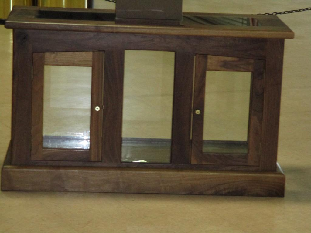 Student makes entertainment center