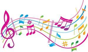 colorful music staff