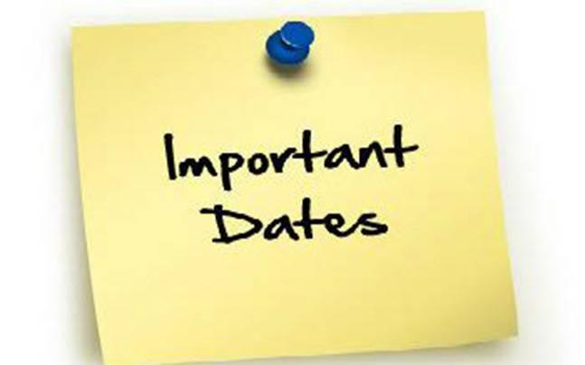 2020-2021 Important Dates Featured Photo