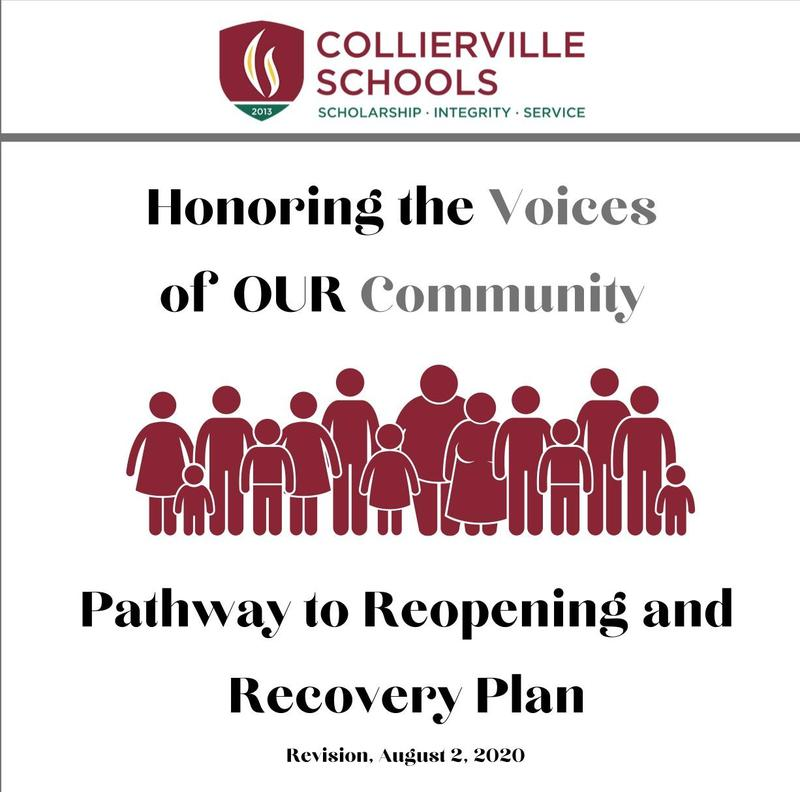 UPDATED 8/2/20 Collierville Schools Pathway to Reopening and Recovery Plan Featured Photo