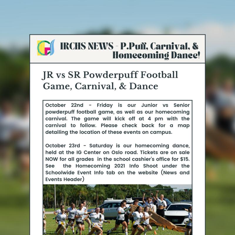 JR vs SR Powderpuff Football Game, Carnival, & Homecoming Dance Featured Photo