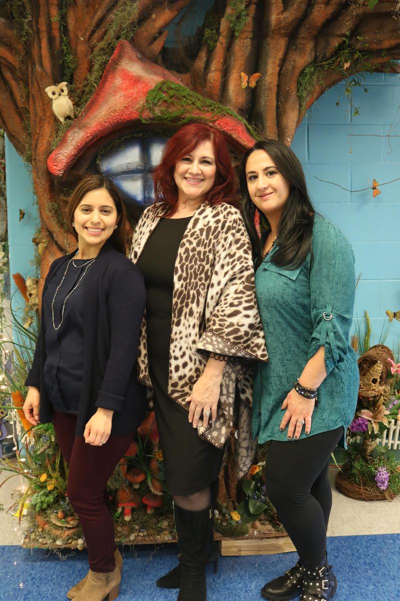 Mrs. Ventricelli, Principal Diaz, and Mrs. Woods