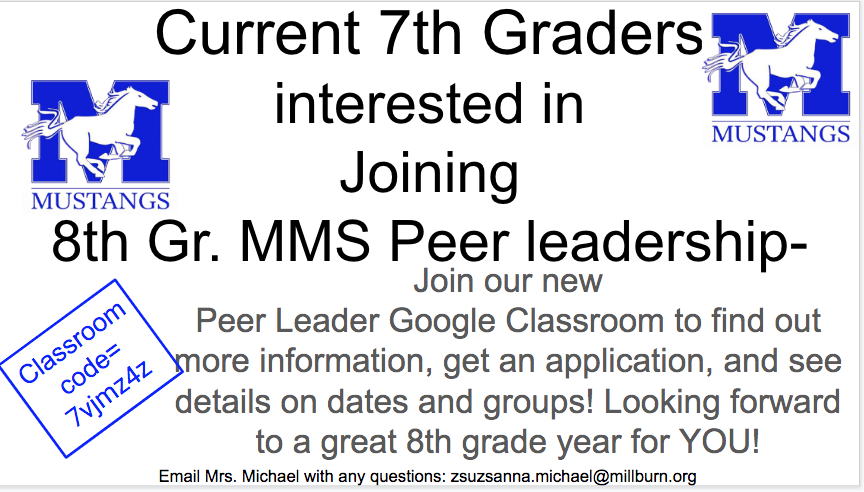7th into 8th grade Peer Leadership
