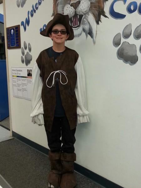 Student in costume as Pirate