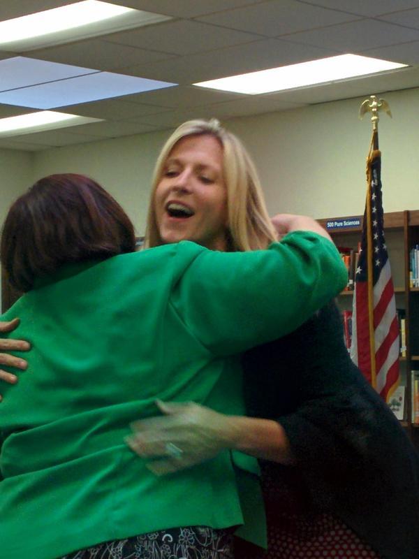 Photo of Lusher hugging Keil