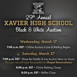Xavier 29th Auction