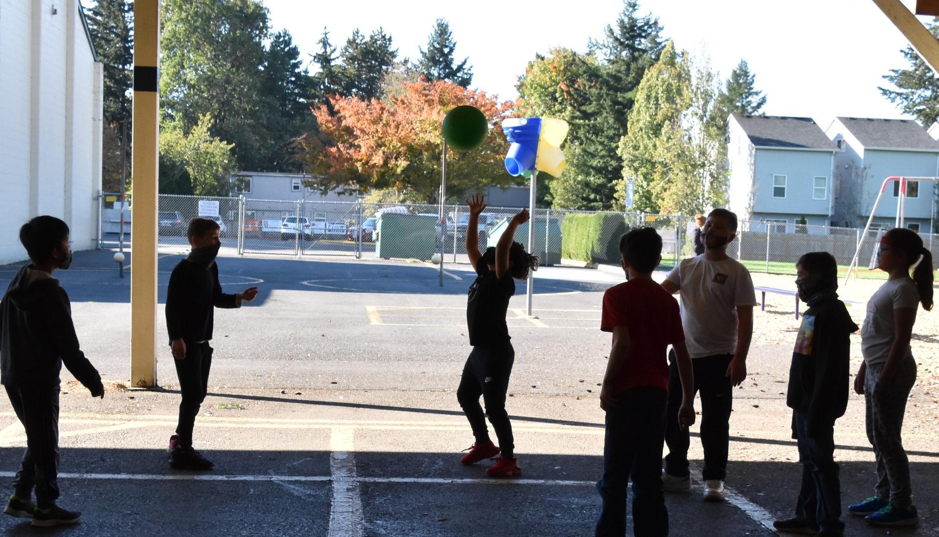 Basketball on the playground