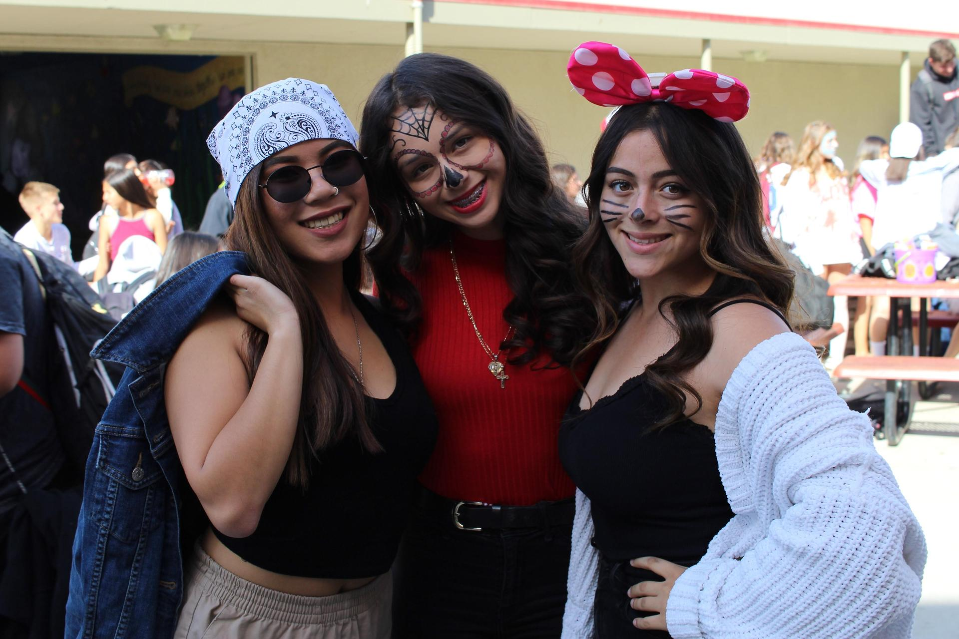 R.J. Lontok as a rapper, Liz Cornejo as Dia de los Muertos, Clara Sahagun as Minnie Mouse