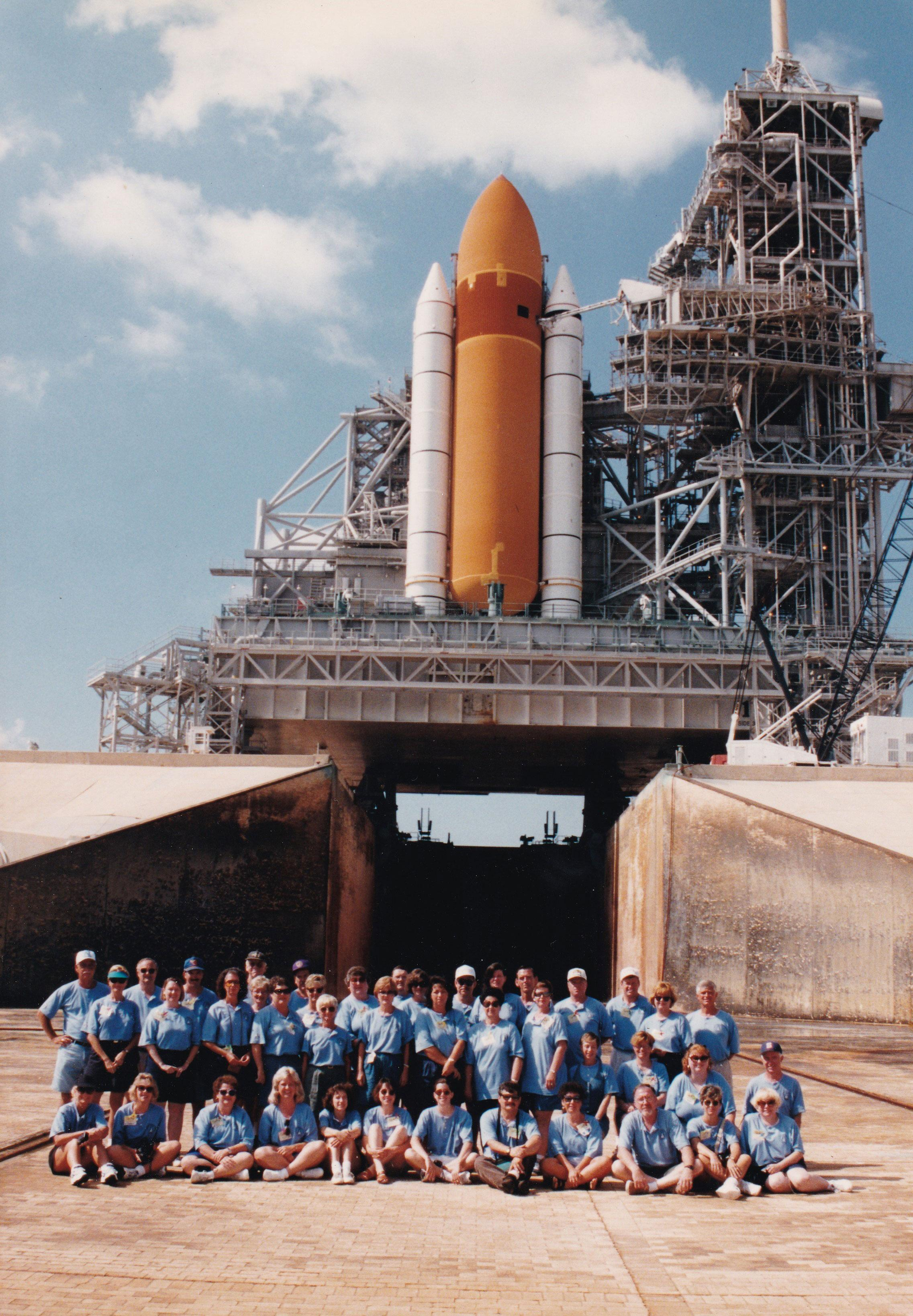 Space Shuttle Columbia on Launch Pad