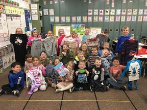 Miss Titcomb's class had a pajama drive!