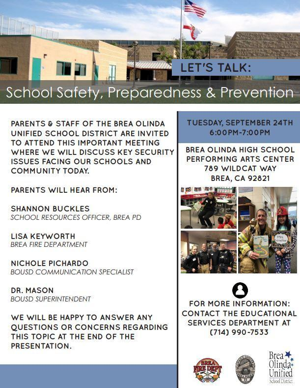 School Safety Preparedness & Prevention