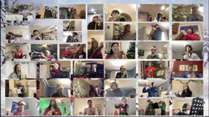 The Westfield High School Wind Ensemble shared a heartwarming virtual holiday performance with senior residents in Westfield