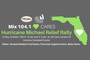 Mix 104.1 Hurricane Micheal Relief Rally