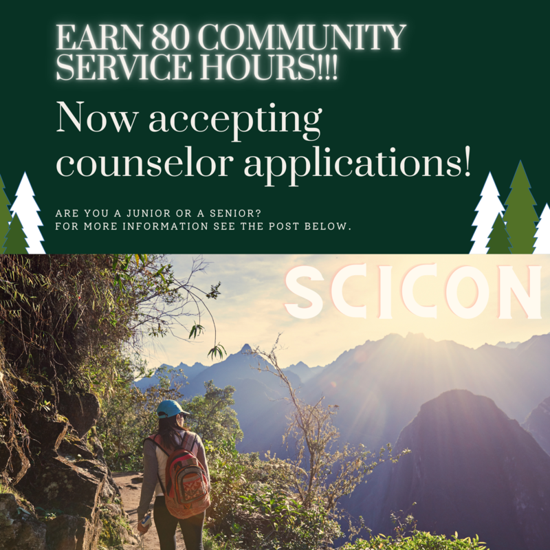Scicon Counselors Wanted