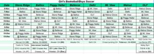 Girls Volleyball & Boys Soccer